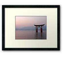 Sunrise at Miyajima Framed Print
