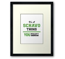 It's a SCHAVO thing, you wouldn't understand !! Framed Print