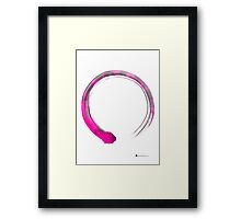 Enso silhouette art print watercolor painting Framed Print