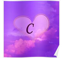 Heart with Monogram C Poster