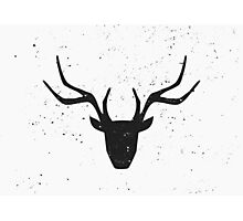 Deer Head Silhouette Design Photographic Print