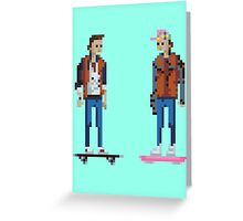 Pixel paradox Greeting Card