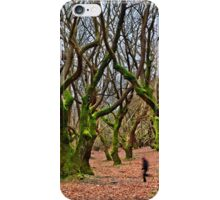 Ghost running in the haunted forest iPhone Case/Skin