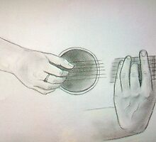 Playing hands..of my fav. artist..who knows? :)) by karina73020