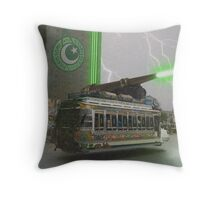 Our Top Secret Bedford Bus Mounted Directed Energy Torpedo Cannon Throw Pillow