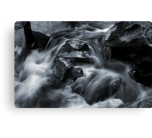 Stream in Moon Light Canvas Print