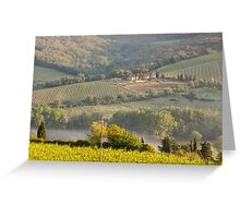 Chianti Vineyards Greeting Card