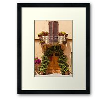 Doorway to Pienza Framed Print