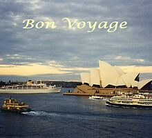 Ships Departing at Sydney, Circular Quay by C J Lewis
