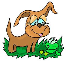 Dog And Frog by kwg2200