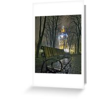 Water Tower At Night 3 Greeting Card