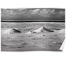Ice mounds on the shore of Lake Michigan Poster