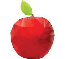 Geometric Red Apple Photographic Print