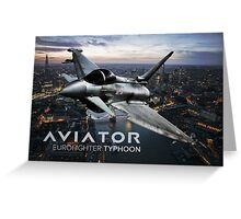 Eurofighter Typhoon Jet Fighter Greeting Card