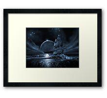 Ghost ship series: Full moon rising Framed Print