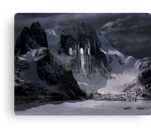 Sanctuary or snow mountain enter Canvas Print