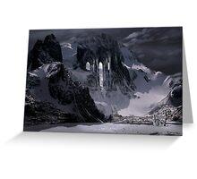 Sanctuary or snow mountain enter Greeting Card
