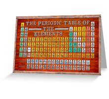 Victorian Style Periodic Table Of The Elements Greeting Card