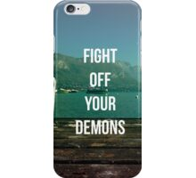 FIGHT OFF YOUR DEMONS - BRAND NEW BAND LYRIC  iPhone Case/Skin
