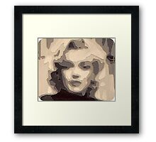 marilyn collage papercraft 3-d Framed Print
