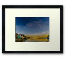 Sunset at Shore Drive Framed Print