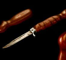 Celtic Redgum Knife handle & Scabbard 2004 by Aden Brown