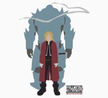 Fullmetal Alchemist Brotherhood | Minimalist Elric Brothers by DwalinR