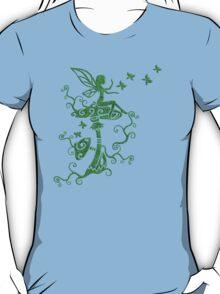 Fairy, Magic Mushrooms, Butterflies, Fantasy T-Shirt