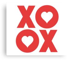 XOXO Hugs and Kisses Valentine's Day Canvas Print