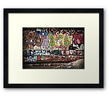 Look At Me: The Girl in the Graffiti Framed Print