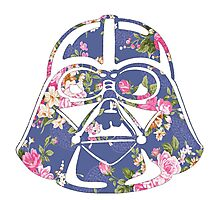 I Am Your Father Floral Helmet Design Photographic Print