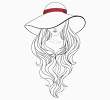 Girl with Long Hair and Hat  Kids Clothes
