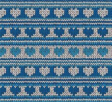Knitted Pattern Set 18 - Blue Hearts by wrapsio