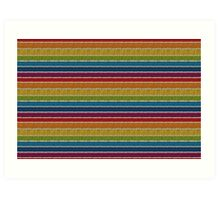 Knitted Pattern Set 19 - Rainbow 3 Art Print