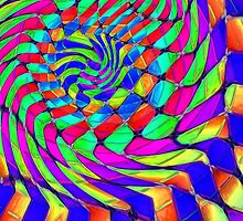 Tumblr 33 by CAP - MAGIC MOVING Optical Illusion Psychedelic Design by capartwork