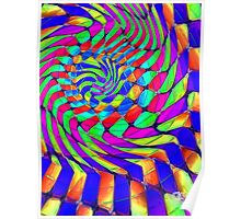 Tumblr 33 by CAP - MAGIC MOVING Optical Illusion Psychedelic Design Poster