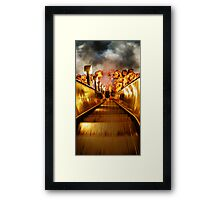 Staircase to the underground... Framed Print