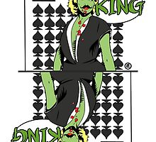 Zombie Pop Art Pin up Spade King by TBZZ