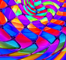 Tumblr 34 by CAP - Magic Optical Illusion Psychedelic Vibrant Colorful Design Sticker