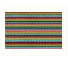 Knitted Pattern Set 21 - Rainbow 4 Art Print
