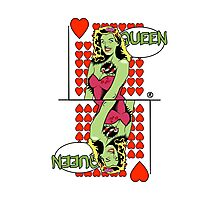 Zombie Pop Art Pin Up Heart Queen Photographic Print