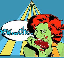 Zombie Pop Art Pin Up Steak by TBZZ