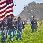 Stylized photo of Civil War re-enactors marching on a &quot;battlefield&quot;. by NaturaLight