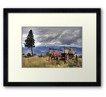 Little Red Wagon of the Wild West Framed Print