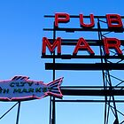 Fish and Market sign. by Andrew Ferguson