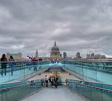 Millennium Bridge & St Paul's by Karen Martin