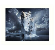Ice Age Premonition or Infinite Iceberg Synthesizer Art Print