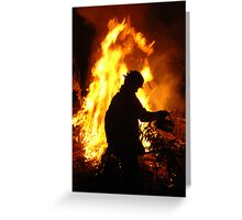 A firey silhouette Greeting Card