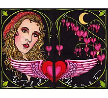 Bleed to Love her Wild Heart Photographic Print