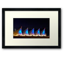 Night Light At Canada Place Framed Print